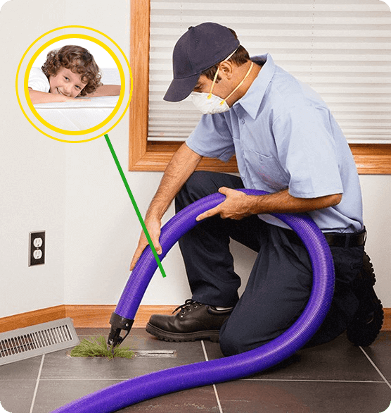 Duct cleaning professional